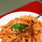 Pasta with Roasted Red Pepper Cream Sauce
