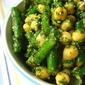 Green Bean Salad w/ Chickpeas & Mint Pesto