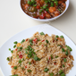 Egg Fried Rice & Gobhi/Cauliflower Manchurian