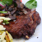 Cabernet Marinated Fillets with Sauteed Mushrooms