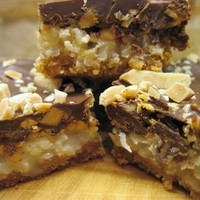 Chocolate Almond Toffee Coconut Squares
