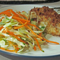 Buttermilk Baked Chicken + Coriander Carrot Slaw