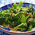 Recipe for vegan broccoli salad with spicy sesame peanut dressing