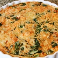 Spinich and bacon quiche