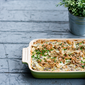 Truffled Tuna Noodle Casserole with Crispy Shallots & a Mushroom White Wine Sauce