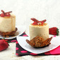 Maple Mousse Towers with Strawberry Confit & French Toasted Pound Cake in Hazelnut-Bacon Lace Bowls