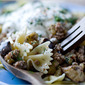 Pasta With Turkish-Style Lamb, Eggplant and Yogurt Sauce