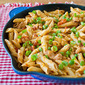 Barbecue Chicken and Penne Skillet