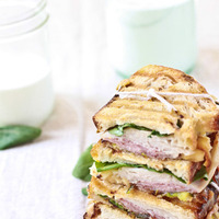 Ham, Turkey, Arugula, Fontina and Caramelized Onion Panini