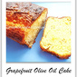 Eggless Grapefruit Olive Oil Cake