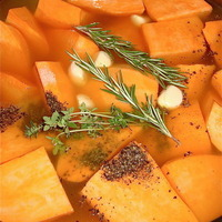 Garlic Herbed Sweet Potatoes