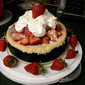 Sugared Strawberry Cheesecake