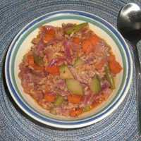 Garden Vegetable Soup with Rice