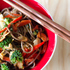 Soba Noodle Stir-Fry with Spicy Almond Butter Sauce