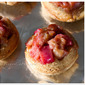 Mini Rhubarb Upside-Down Cakes