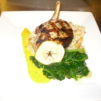 Herb Grilled Pork Chop and Caramelized Apple Risotto Recipe by ...