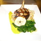 Herb Grilled Pork Chop and Caramelized Apple Risotto