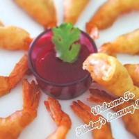 Fluffy Beer Battered Prawns