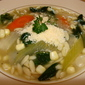 Orzo and Spinach Soup