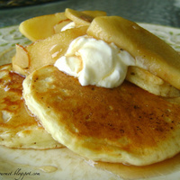 Image of Pancakes & Sautéed Apple Breakfast Recipe, Cook Eat Share