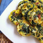 Rainbow Chard and Leek Mini Quiches