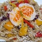 Delicious Rotelle Pasta With Mint Pesto And Soft Boiled Eggs
