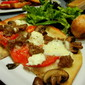 Homemade Sausage, Mushroom, and Tomato Pan Pizza