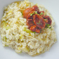 Wet Garlic and Preserved Lemon Risotto with Slow Roasted Tomatoes
