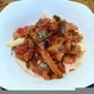Pasta with Eggplant, Tomato, and Red Chili Pepper