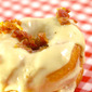 Brioche Donuts with Maple Frosting and Bacon Crumbles