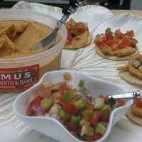 Hummus and Bruschetta Appetiser