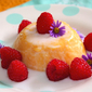 Mango-Tango – Mango pudding with coconut milk and raspberries