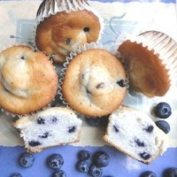 Image of Eggless - Wild Blueberry & Oatmeal Muffin Recipe, Cook Eat Share
