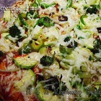 Whole Wheat Garden Veggie Delight Pizza from SCRATCH