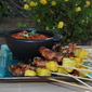 Bacon Wrapped, Jalapeno Stuffed, Grilled Shrimp and Pineapple Kabob Recipe—Wow! What a Mouthful!