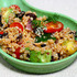 Recipe for quinoa, avocado, tomato and black bean salad with chipotle lime dressing
