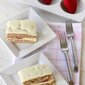 Finding Balance: Strawberry Cake filled with Sweet Vanilla Mascarpone Cream
