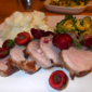Grilled Pork Tenderloin with Cherry Salsa from Bon Appetit Magazine, June 2011