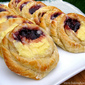 Raspberry and Cheese Danish