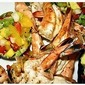 Grilled Caribbean Rum-Soaked Shrimp With Mango Lime Relish