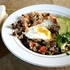 Rice and Beans topped with an egg