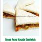 Green Peas Masala Sandwich