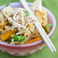 Image of Asian Veggie Pasta Recipe, Cook Eat Share