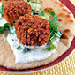 Falafel with Tzatziki and Skillet Flatbread