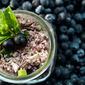 Turkey Quinoa Salad with Blueberry Mojito Dressing