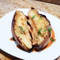 Grilled Sweet Potatoes with Sesame Sauce