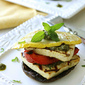 Grilled Tofu Stacks with Pesto & Grilled Vegetables {ManPans Giveaway}