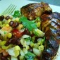 Honey-Grilled Chicken Breasts with Corn and Black Bean Salad