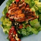 Southwestern Grilled Chicken Salad with Cherry Tomato-Black Bean-Corn Salsa