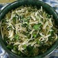 Pasta with Broccoli Rabe, Garlic Scapes and Anchovies